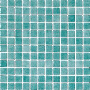 Turquoise Green Non-Skid 1″ x 1″ (Fog Series) Glass Pool Tile