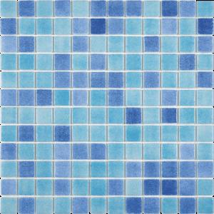 Cabrera Blend 1″ x 1″ (Fog Series) Glass Pool Tile