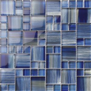 Blue Mixed (Hawai Series) Glass Pool Tile