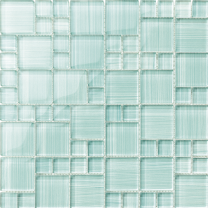 Turquoise Mixed (Hawai Series) Glass Pool Tile