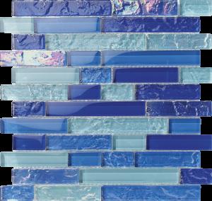 Nassau Linear Mixed (Bahama Series) Glass Pool Tile