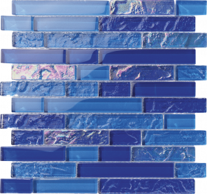 Bimini Linear Mixed (Bahama Series) Glass Pool Tile