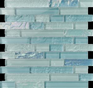 Inagua Linear Mixed (Bahama Series) Glass Pool Tile