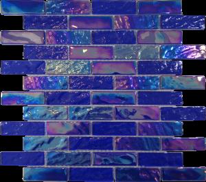 Dark Blue 1″ x 3″ (Pacific Series) Glass Pool Tile