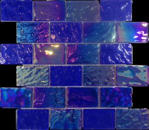 Dark Blue 2″ x 3″ (Pacific Series) Glass Pool Tile