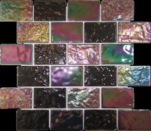 Black 2″ x 3″ (Pacific Series) Glass Pool Tile