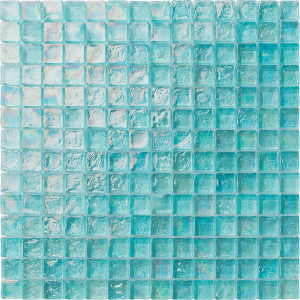 Aquamarine 1″ x 1″ (Ocean Series) Glass Pool Tile