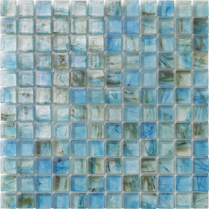 Light Blue 1″ x 1″ (Clear Series) Glass Pool Tile