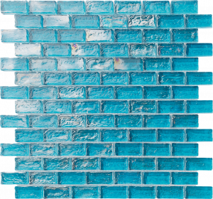Turquoise 1″ x 2″ (Ocean Series) Glass Pool Tile