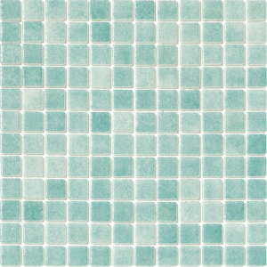 Caribbean Green 1″ x 1″ (Fog Series) Glass Pool Tile