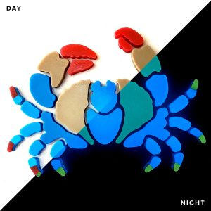 Glow in the Dark Blue Crab Pool Mosaics