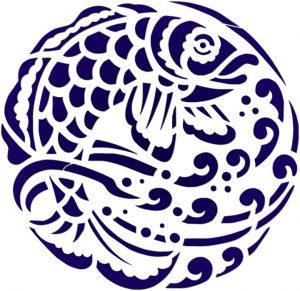 Blue Fish Medallion 1 Pool Mosaics