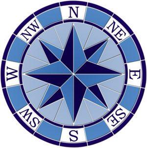 Nautical Compass Pool Mosaics