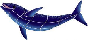 Up Swimming Dolphin Pool Mosaics