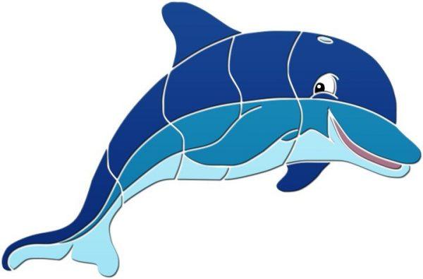 Fun Dolphin Pool Mosaics
