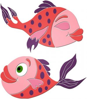 Fun Fish Pair Pool Mosaics