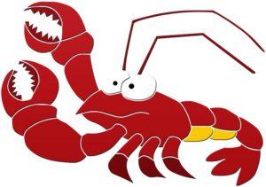 Fun Lobster Pool Mosaics