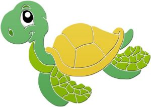 Fun Turtle Pool Mosaics