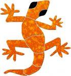 Large Gecko Pool Mosaics