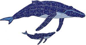 Humpback Whale & Baby Pool Mosaics