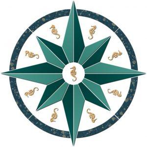 Compass/Medallion 6 Pool Mosaics