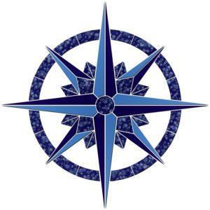 Compass/Medallion 1 Pool Mosaics