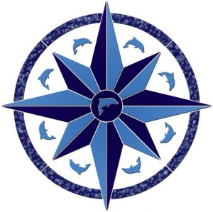 Compass/Medallion 3 Pool Mosaics