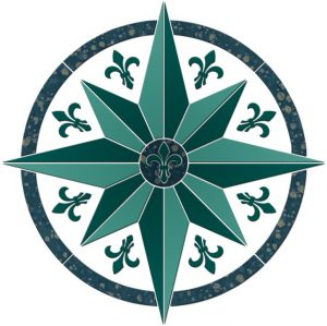 Compass/Medallion 4 Pool Mosaics