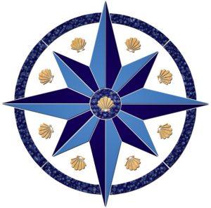 Compass/Medallion 5 Pool Mosaics