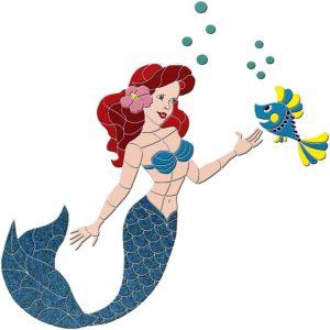 Mermaid & Fish Pool Mosaics