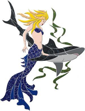 Mermaid & Shark Pool Mosaics