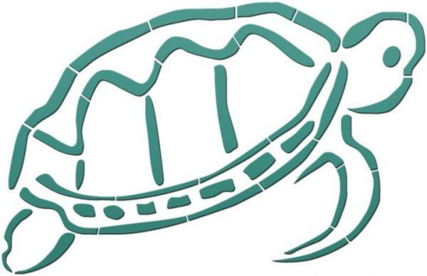Outlined Turtle Pool Mosaics
