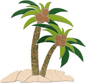 Palm Tree 1 Pool Mosaics