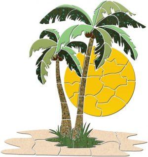 Palm Tree 2 Pool Mosaics