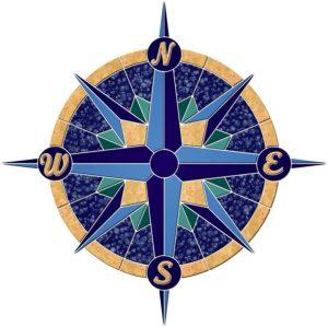 Rose Compass 1 Pool Mosaics