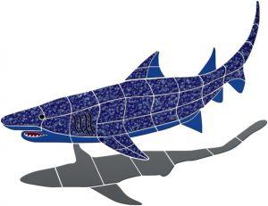 Shark 1 Pool Mosaics