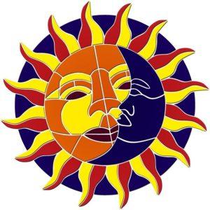 Sun & Moon Medallion Pool Mosaics