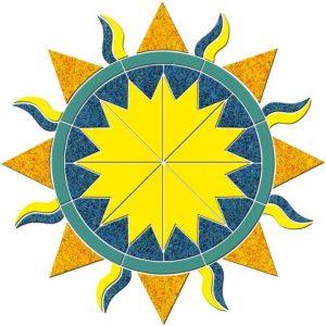 Sunburst Pool Mosaics