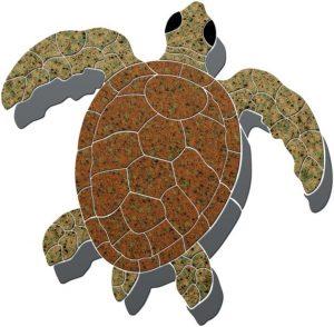 Sea Turtle 1 Pool Mosaics