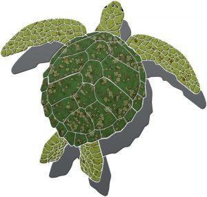 Sea Turtle 2 Pool Mosaics