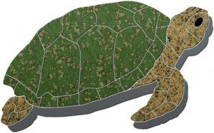 Turtle Sideview Pool Mosaics