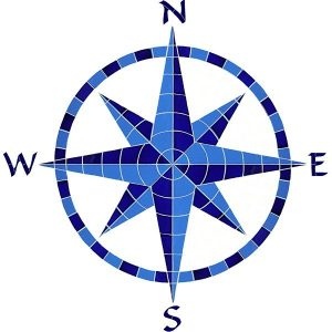 Eight Point Compass Pool Mosaics