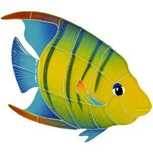 Banded Angel Fish Pool Mosaics
