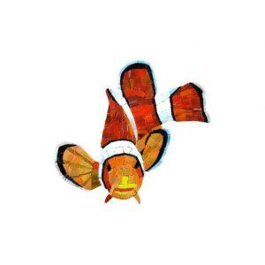 Glass Clown Fish Pool Mosaics