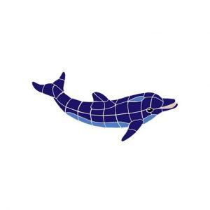 Classic No Curve Dolphin Pool Mosaics