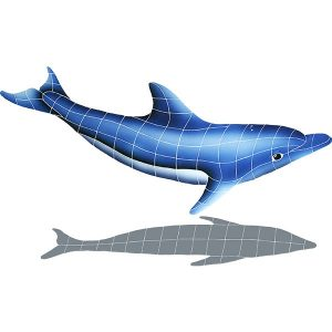 Dolphin in the Sun B Pool Mosaics