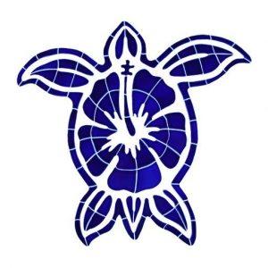 Hibiscus Turtle Pool Mosaics