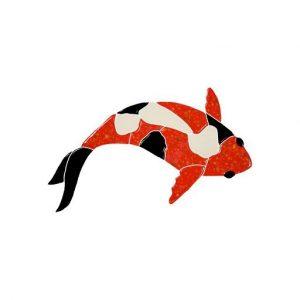 Koi Fish Red Pool Mosaics