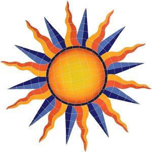Sun Medallion Pool Mosaics