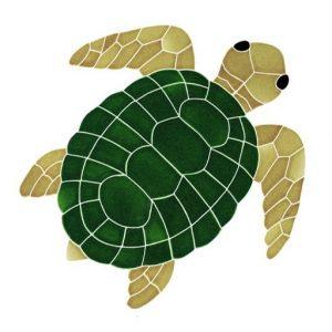 Classic Topview Turtle Pool Mosaics